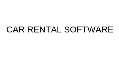 CAR RENTAL SOFTWARE - SMART CAR